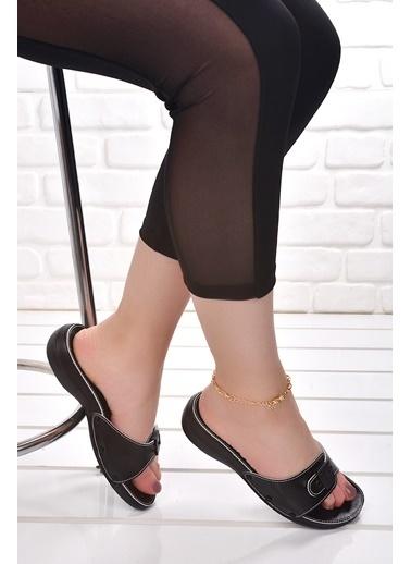 Ceyo Ceyo 6500 Minelli Orto pedik Bayan Terlik Ayakkabı Siyah